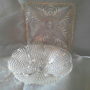 2 Vintage ArtDeco Style Relish/Candy/Hostess Bowls